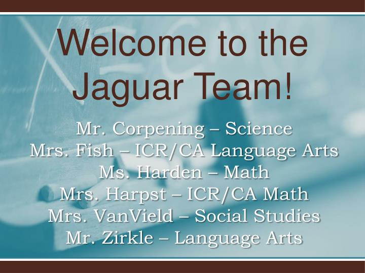 welcome to the jaguar team n.