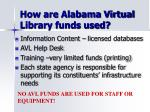 how are alabama virtual library funds used