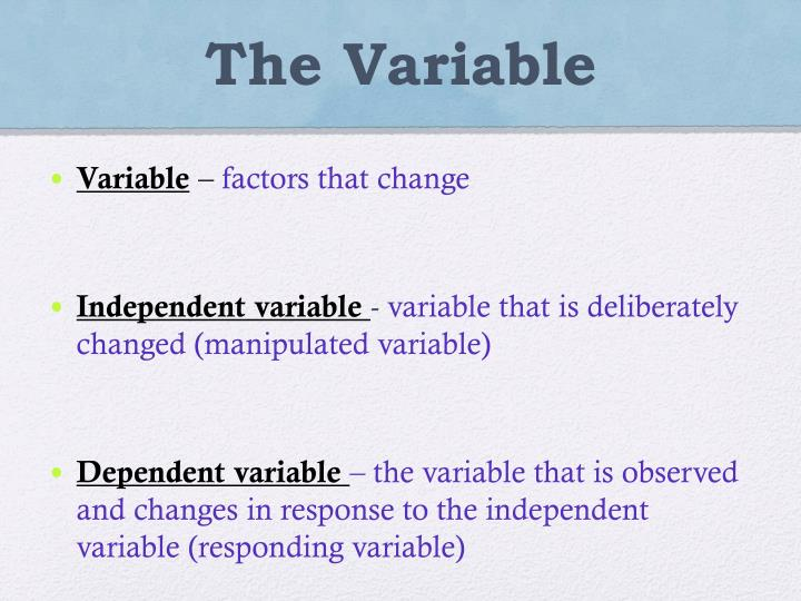 The Variable