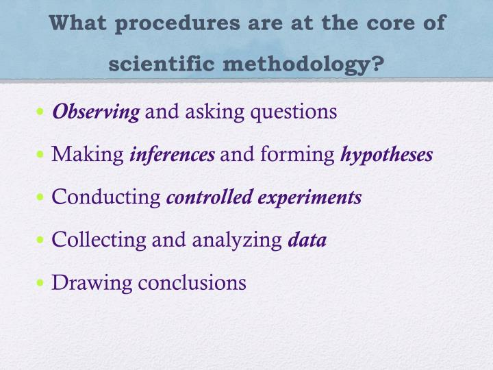 What procedures are at the core of scientific methodology?