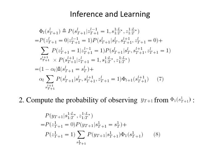 Inference and Learning