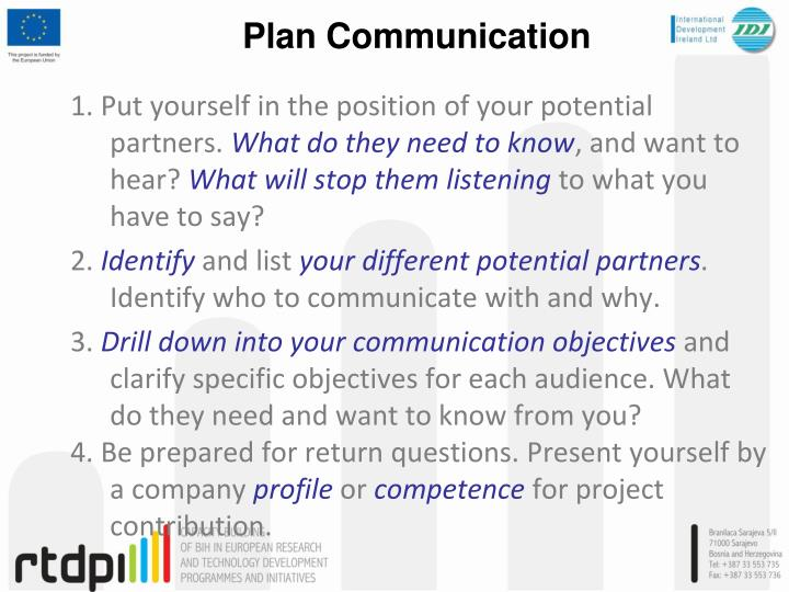 Plan Communication