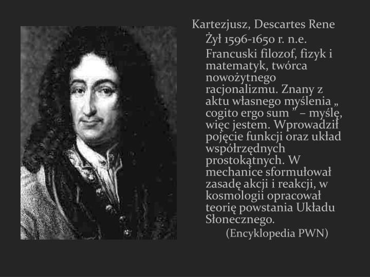 Kartezjusz, Descartes