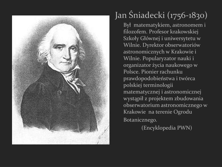 Jan Śniadecki (1756-1830)