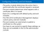 configuring ca policy and exit modules