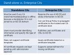 stand alone vs enterprise cas