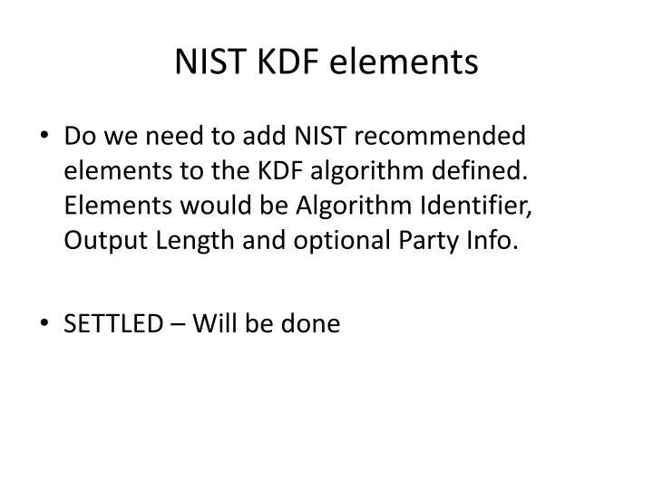 NIST KDF elements