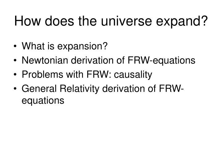 how does the universe expand n.