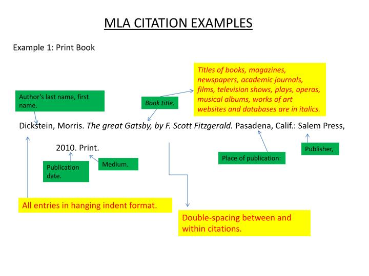PPT - MLA CITATION EXAMPLES PowerPoint Presentation - ID:2730133