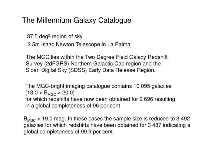 The Millennium Galaxy Catalogue