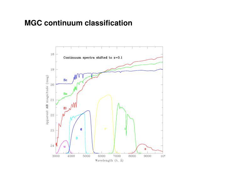 MGC continuum classification