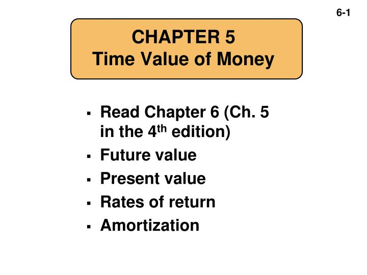 chapter 5 time value of money n.