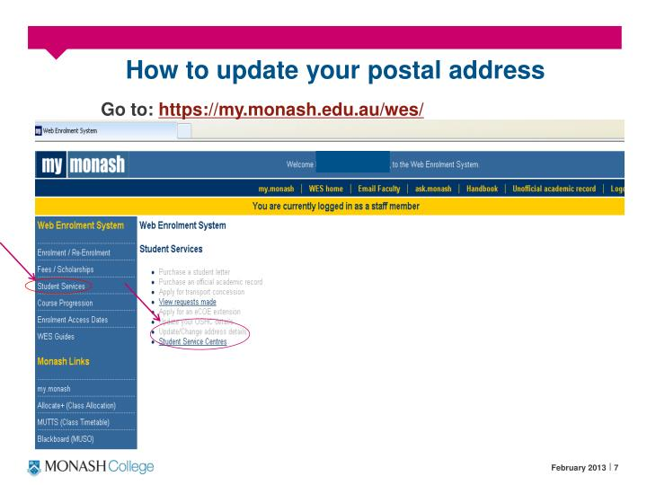 How to update your postal address