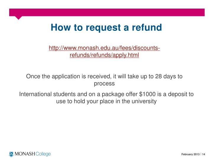 How to request a refund
