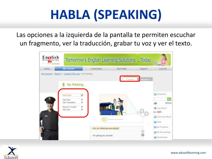 HABLA (SPEAKING)