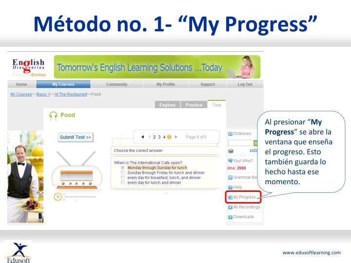 """Método no. 1- """"My Progress"""""""