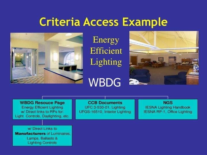 Criteria Access Example