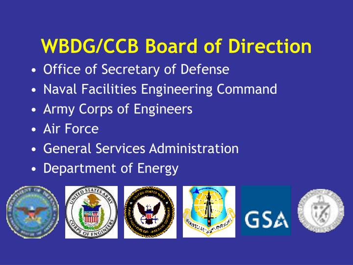 WBDG/CCB Board of Direction