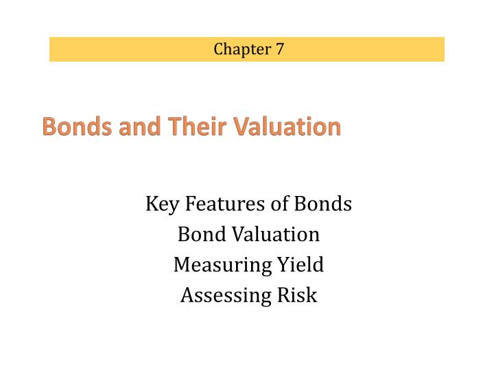 key features of a bond