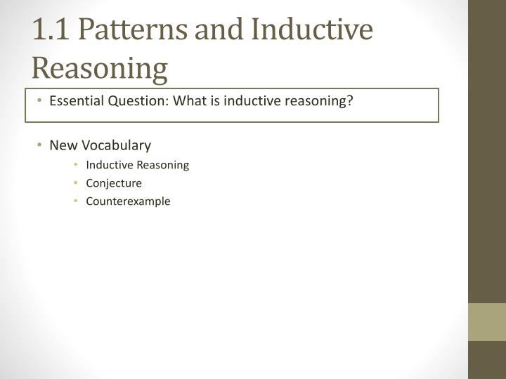 1 1 patterns and inductive reasoning