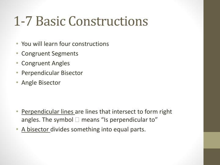 1-7 Basic Constructions