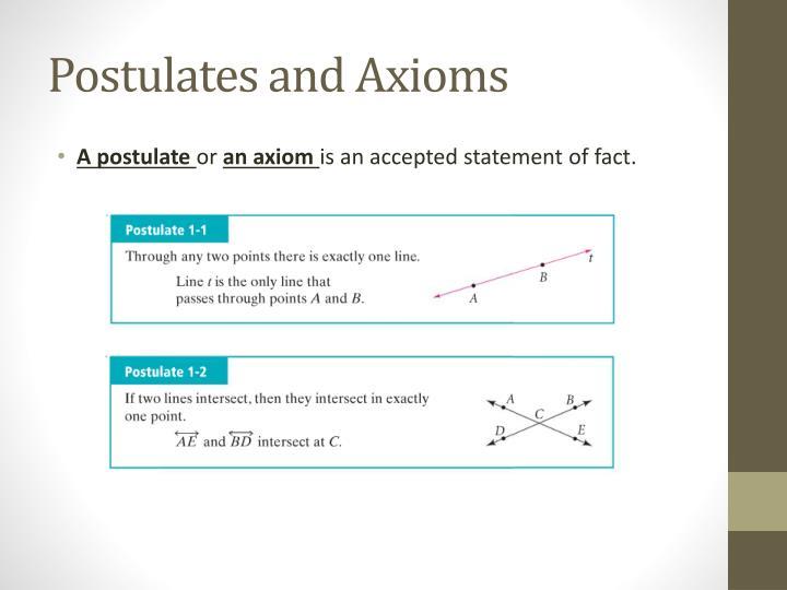 Postulates and Axioms