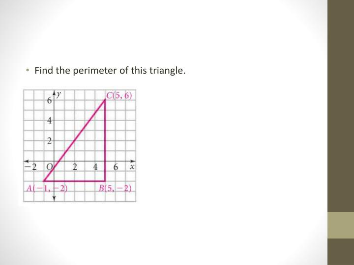 Find the perimeter of this triangle.