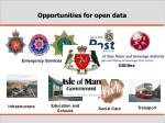 opportunities for open data