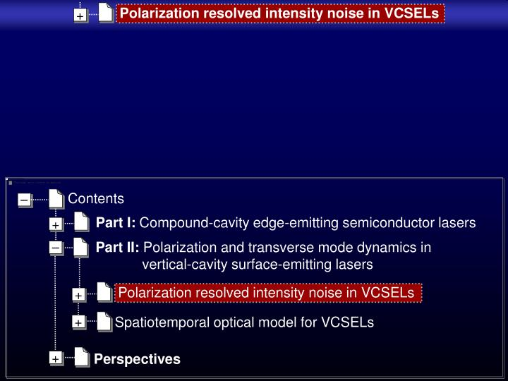Polarization resolved intensity noise in VCSELs