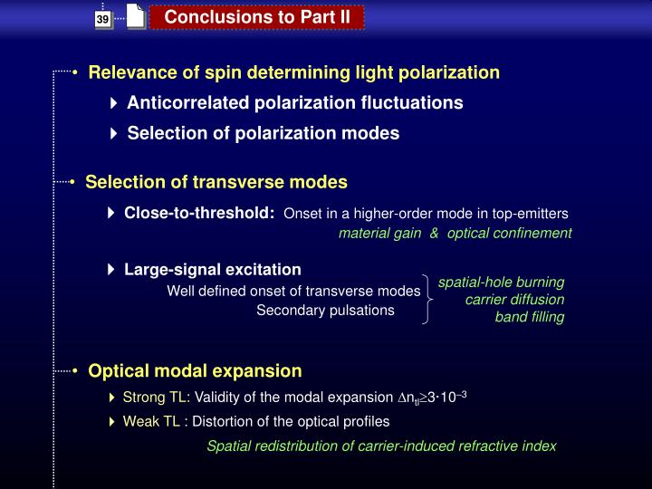 Selection of transverse modes