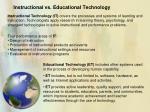 instructional vs educational technology