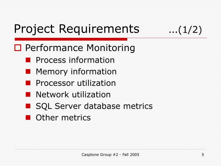 Project Requirements …