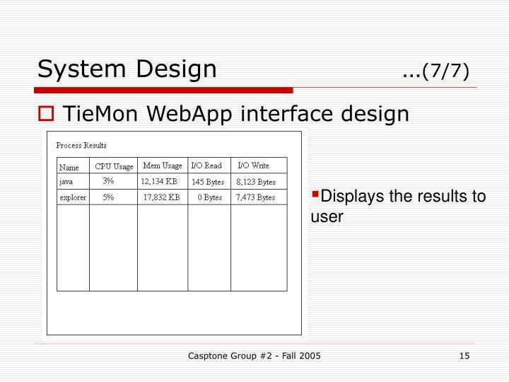 System Design …
