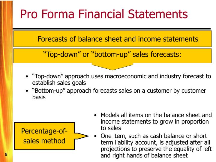 Models all items on the balance sheet and income statements to grow in proportion to sales