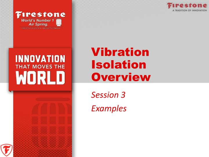 vibration isolation overview n.