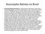 associa es batistas no brasil
