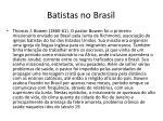 batistas no brasil1