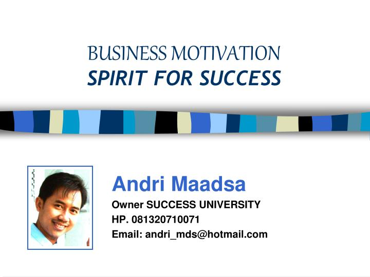 business motivation spirit for success n.