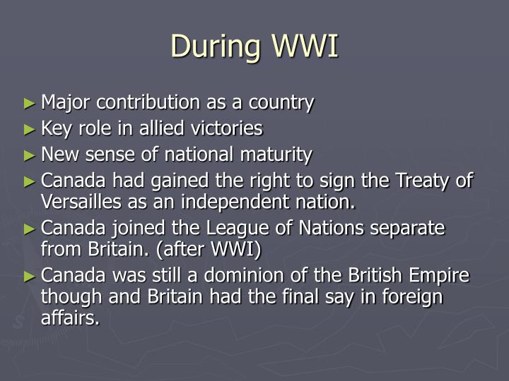 During wwi