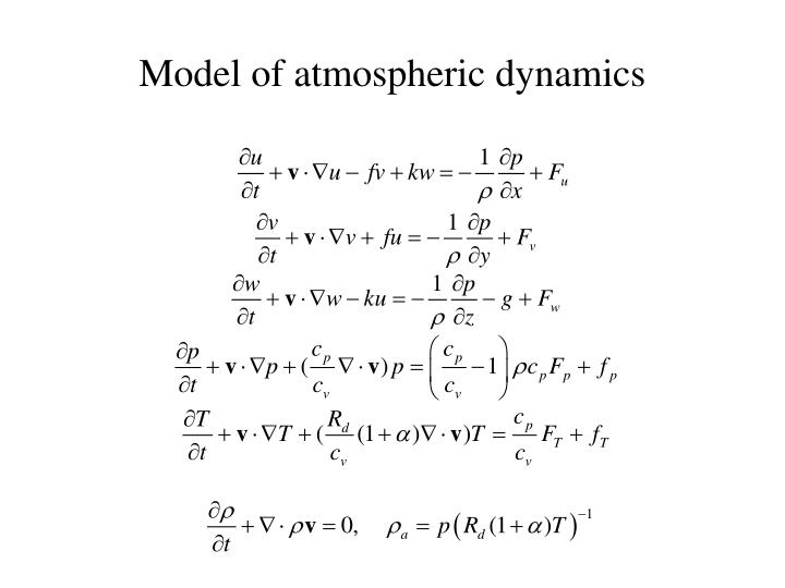 Model of atmospheric dynamics