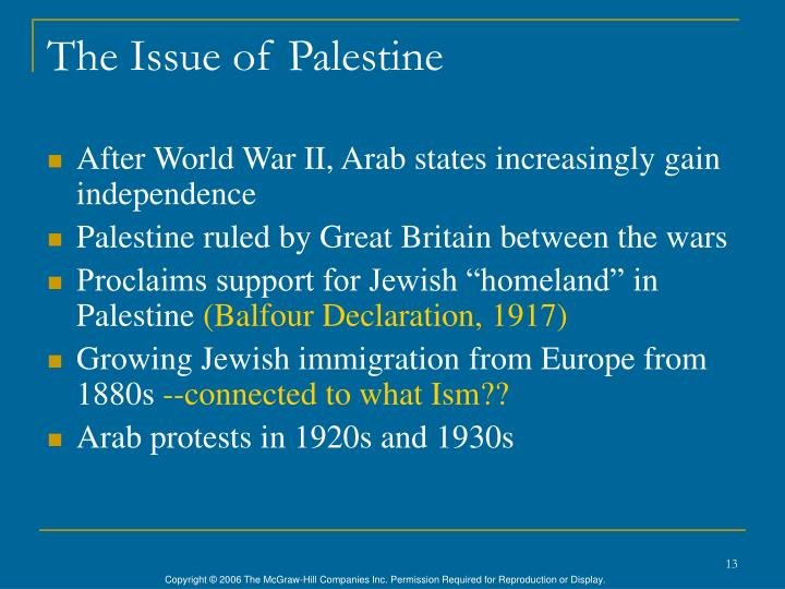 The Issue of Palestine