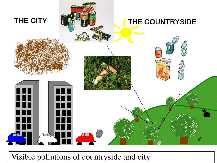 Visible pollutions of countryside and city