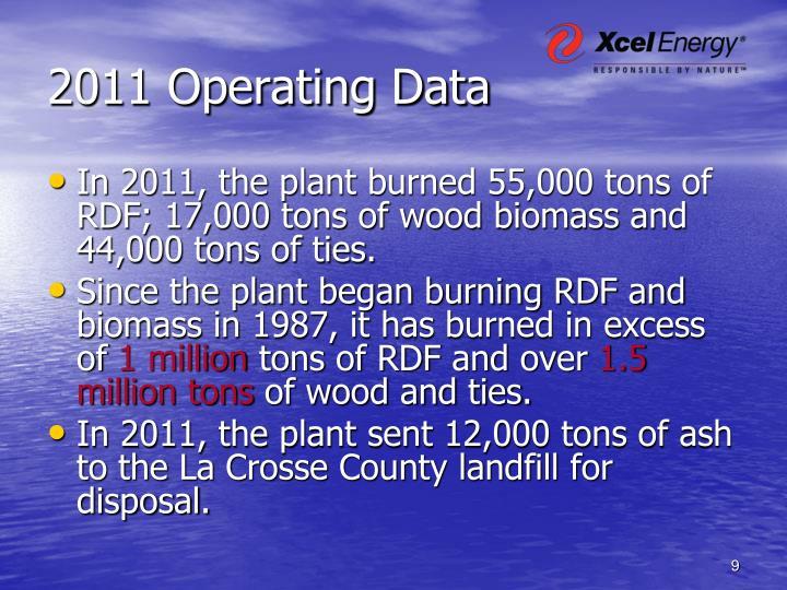 2011 Operating Data