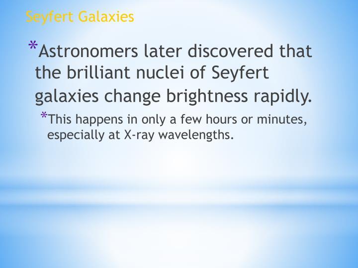 Seyfert Galaxies