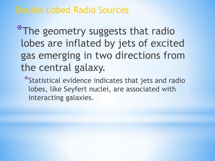 Double-Lobed Radio Sources