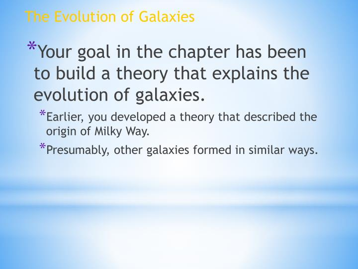 The Evolution of Galaxies