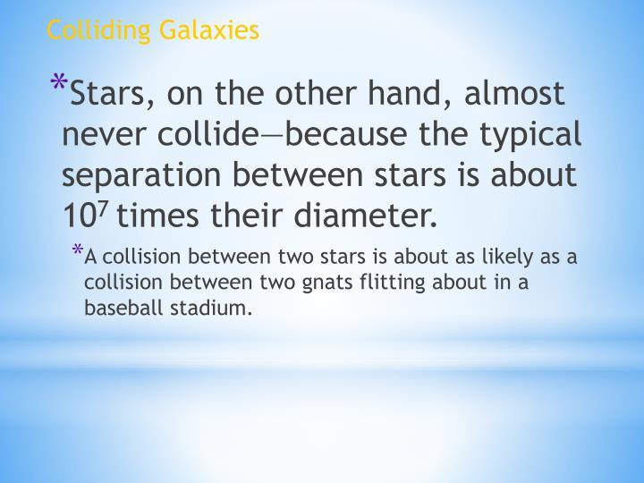 Colliding Galaxies