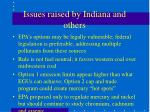 issues raised by indiana and others