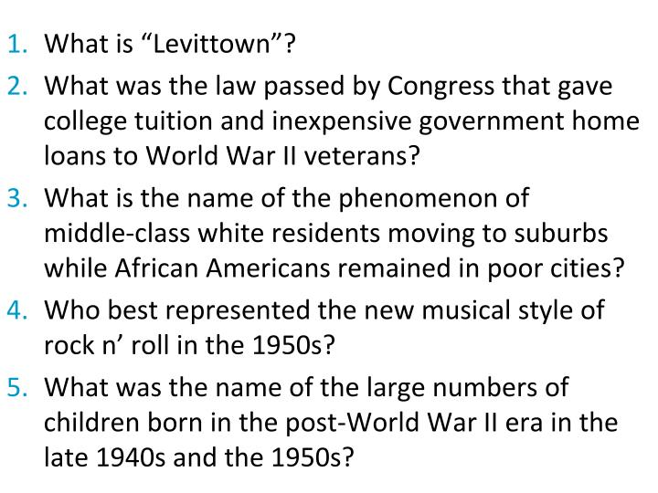 """What is """"Levittown""""?"""