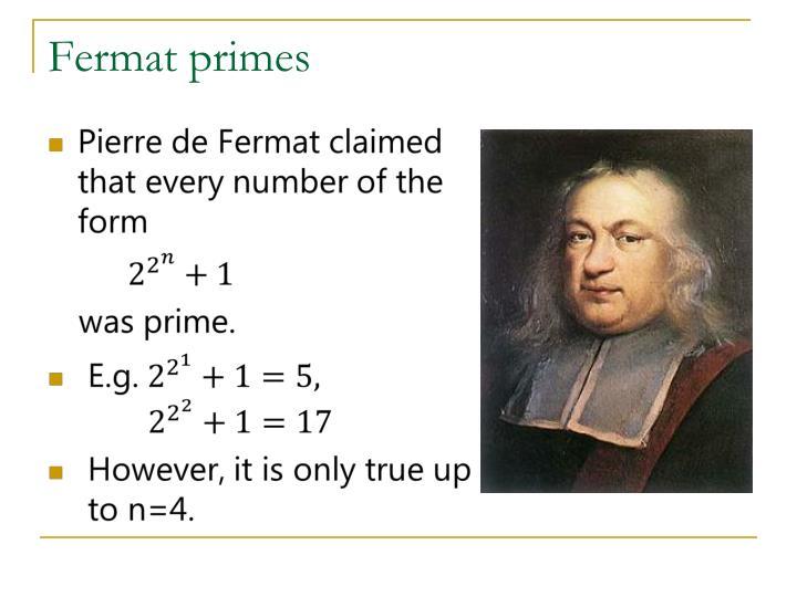 Fermat primes